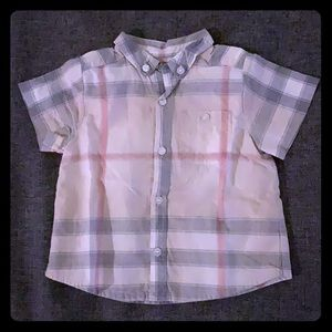 Burberry baby button down